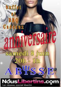 Sauna Club Abysse Alençon - Soirée mixte : Anniversaire Abysse - 2019-06-08T20:00:00 - 2019-06-09T01:00:00