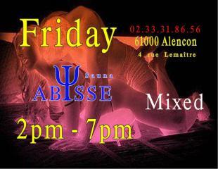 Sauna Club Abysse : Friday mixed