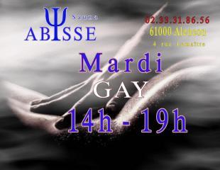 Sauna Club Abysse : Horaires du Club Abysse - mardi gay