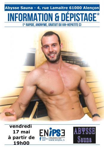 Sauna Club Abysse Alençon - Soirée gay : Prévention  - 2019-05-17T19:00:00 - 2019-05-17T23:00:00