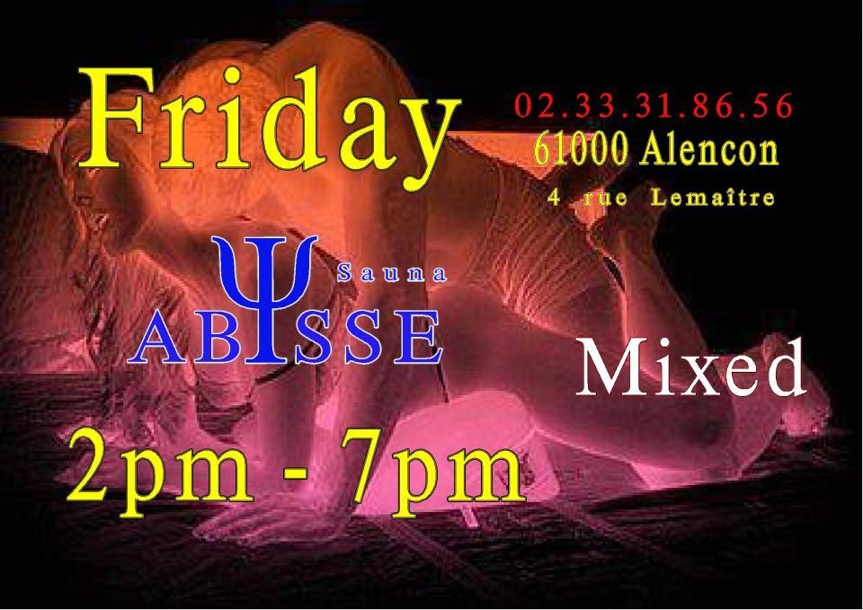 Sauna Club Abysse : Friday mixed